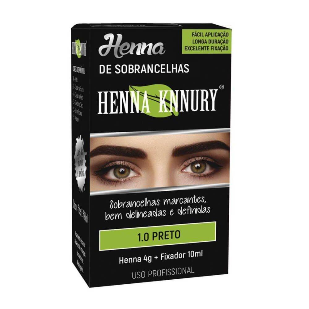 Henna para sobrancelhas 4g - KIT C/3 UN + Fixador 10ML