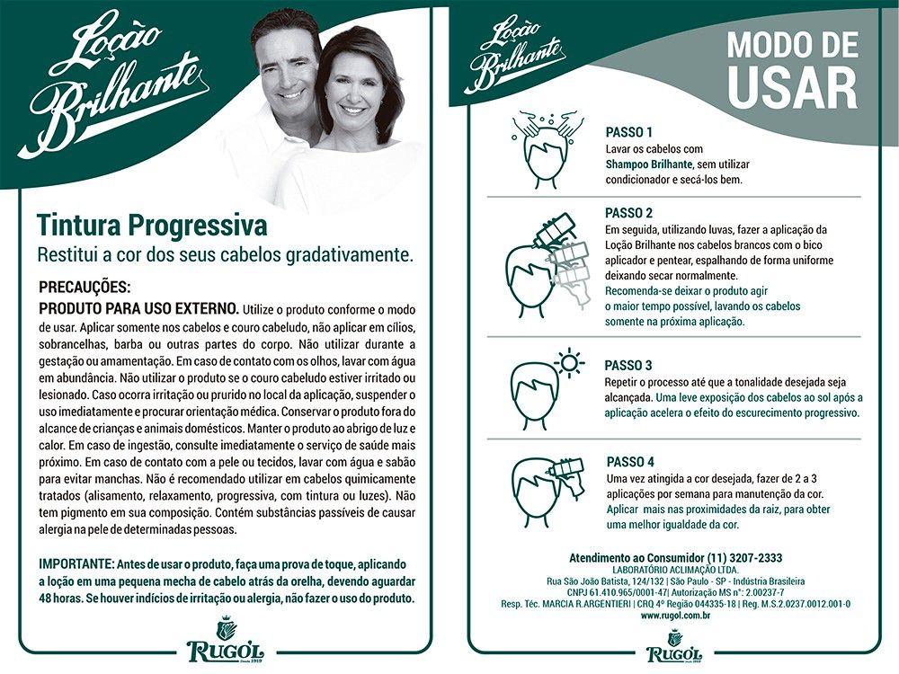 LOÇÃO BRILHANTE LIQUIDA 150 ML