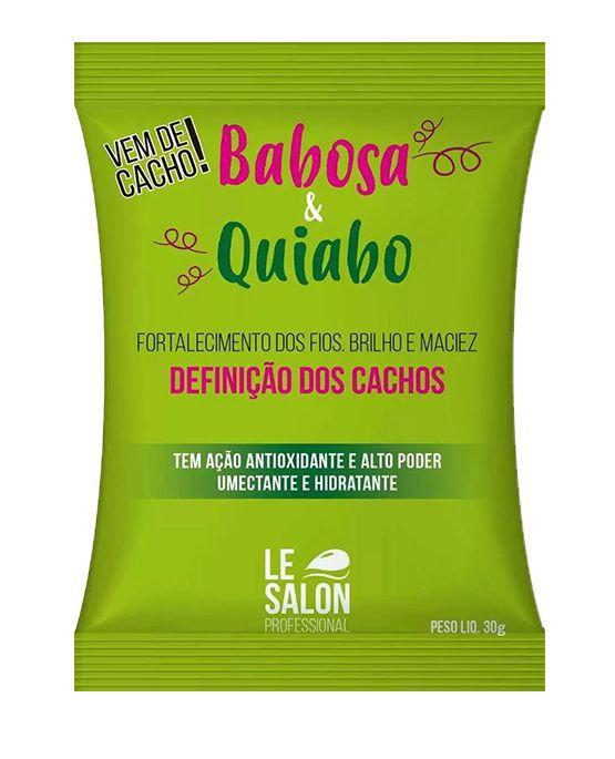 MÁSCARA Babosa e Quiabo - KIT C/ 12 UNIDADES