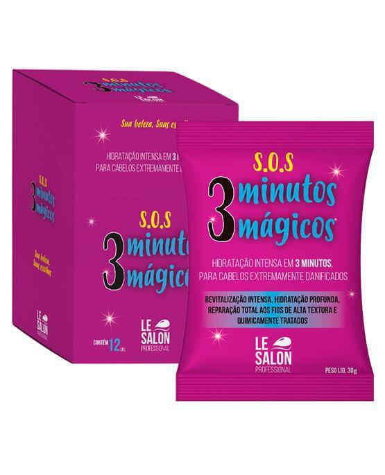 MÁSCARA S.O.S HIDRATANTE 3 MINUTOS MÁGICOS   - KIT C/ 12 UNIDADES