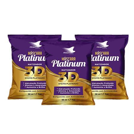 MATIZADOR PLATINUM ALISE HAIR 50ML - KIT C/ 3 UNIDADES
