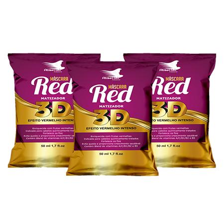 MATIZADOR RED 3D 50ML - KIT C/ 3 UNIDADES