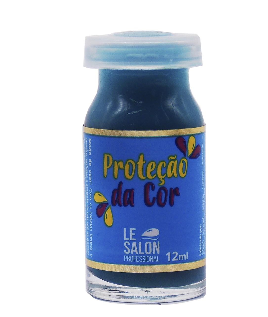 PROTEÇÃO DA COR AMPOLA LE SALON - KIT C/ 3 UNIDADES