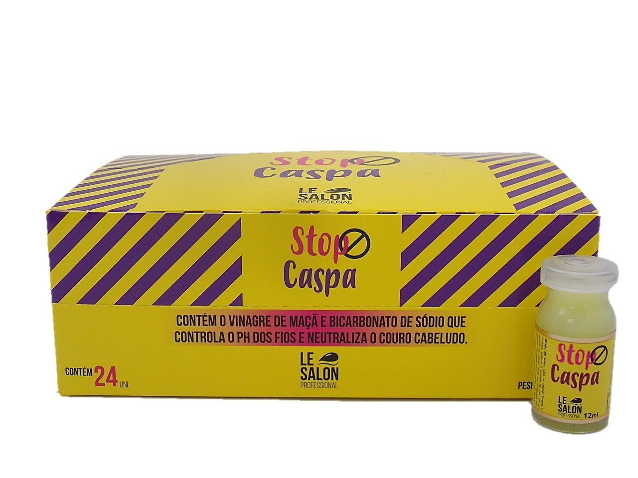STOP CASPA AMPOLA LE SALON - KIT C/ 24 UNIDADES
