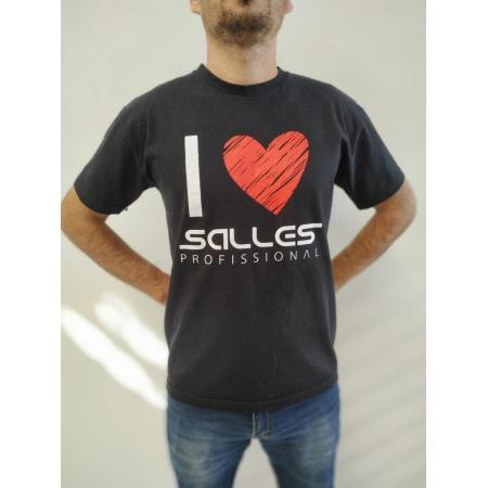 Camiseta Masc Preto Coração Salles Profissional