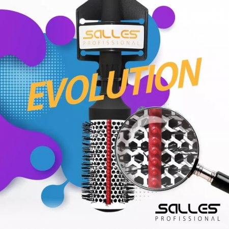 Escova Cabelo Ceramica Evolution 62mm Salles Pro
