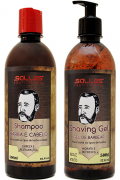 Kit Shampoo Barba Cabelo e Bigode + Shaving Gel 500ml