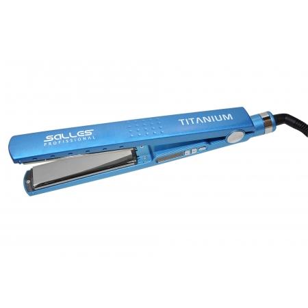Prancha Titanium 460°F Bivolt Azul Salles Pro