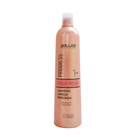 Shampoo Anti Resíduo Gold Rose Salles Profissi 1lt