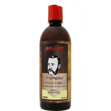 Shampoo Barba e Cabelo Salles Profissional 500ml