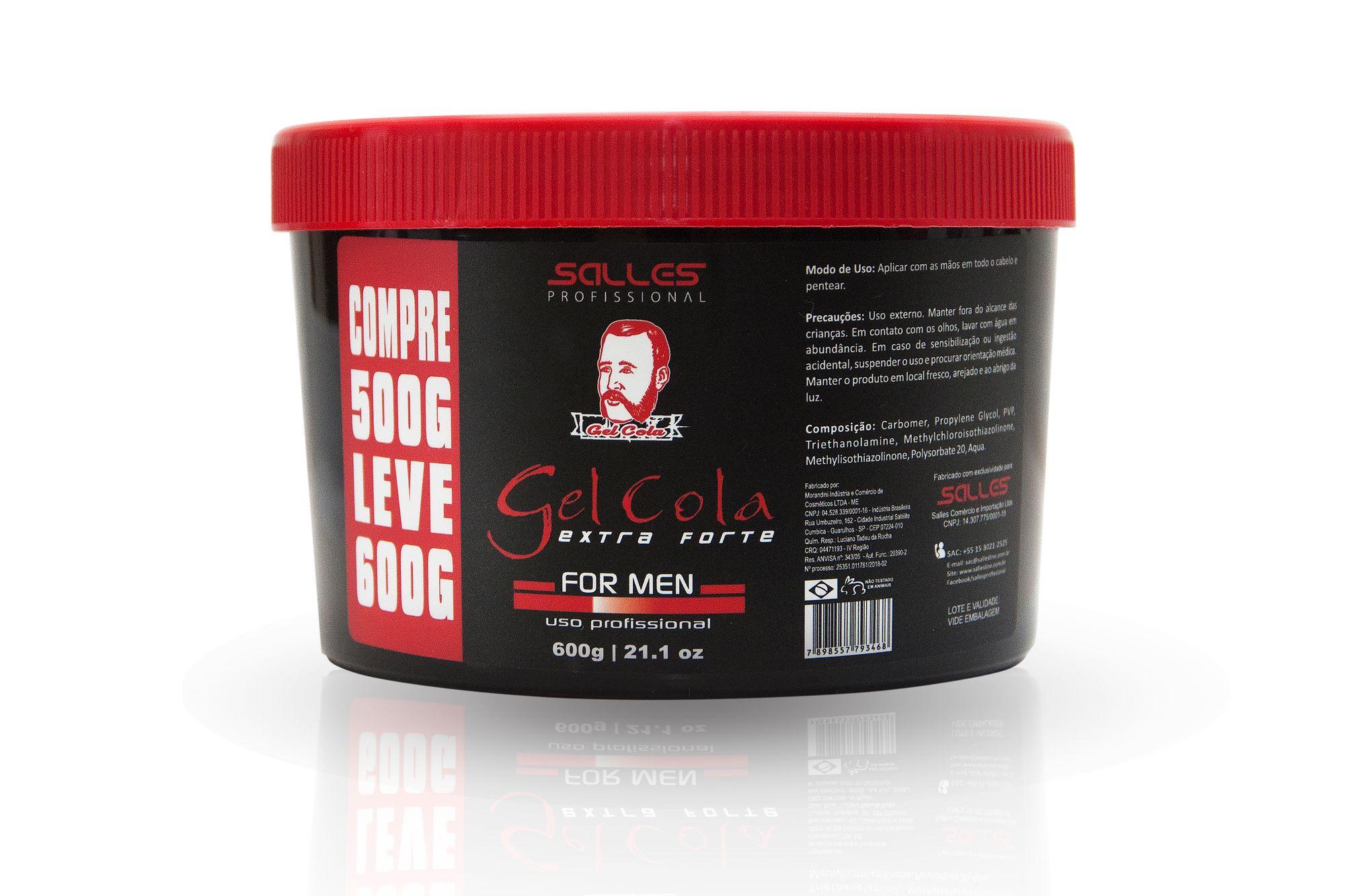 Gel Cola Extra Forte Salles Profissional 600gr