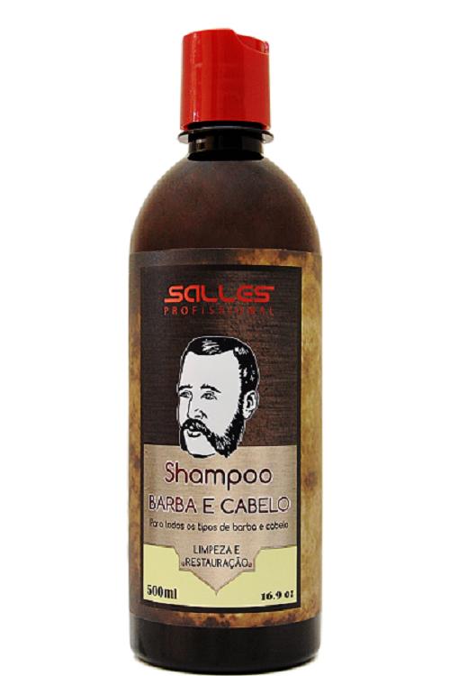 Kit 12 Shampoo Barba Cabelo Bigode Salles Profissional 500ml