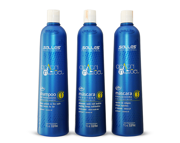 Kit Progressiva Cicatri Gel Organic 3 Passos 3x1 Litro