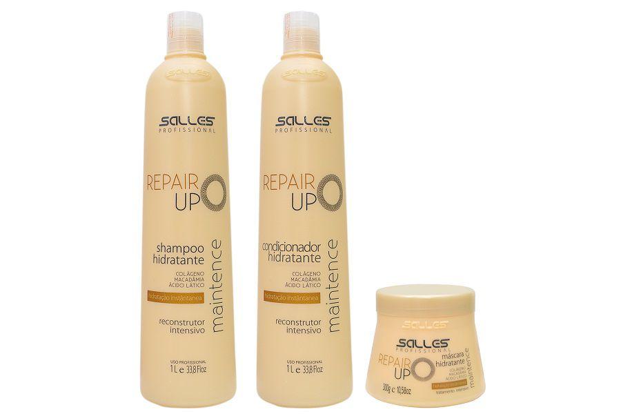 Kit Repair UP Maintence Shampoo 1 litro + Condicionador 1 litro + Máscara 300gr
