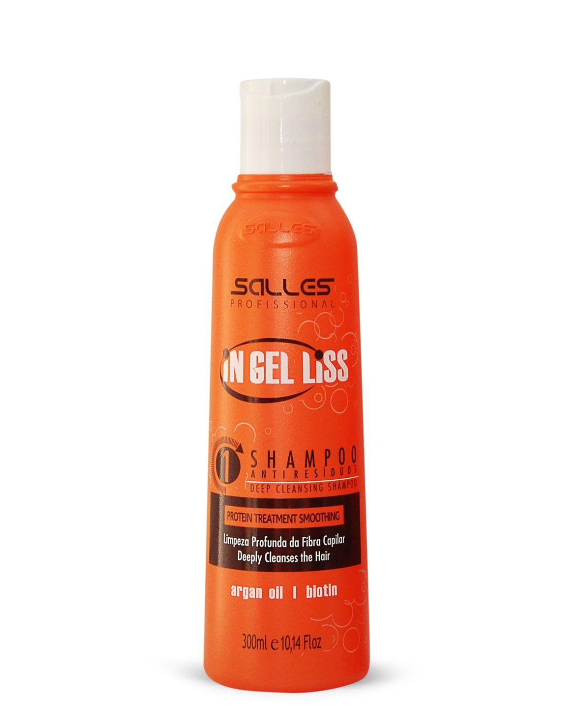 Shampoo Anti Resíduo In Gel Liss Salles Prof 300ml