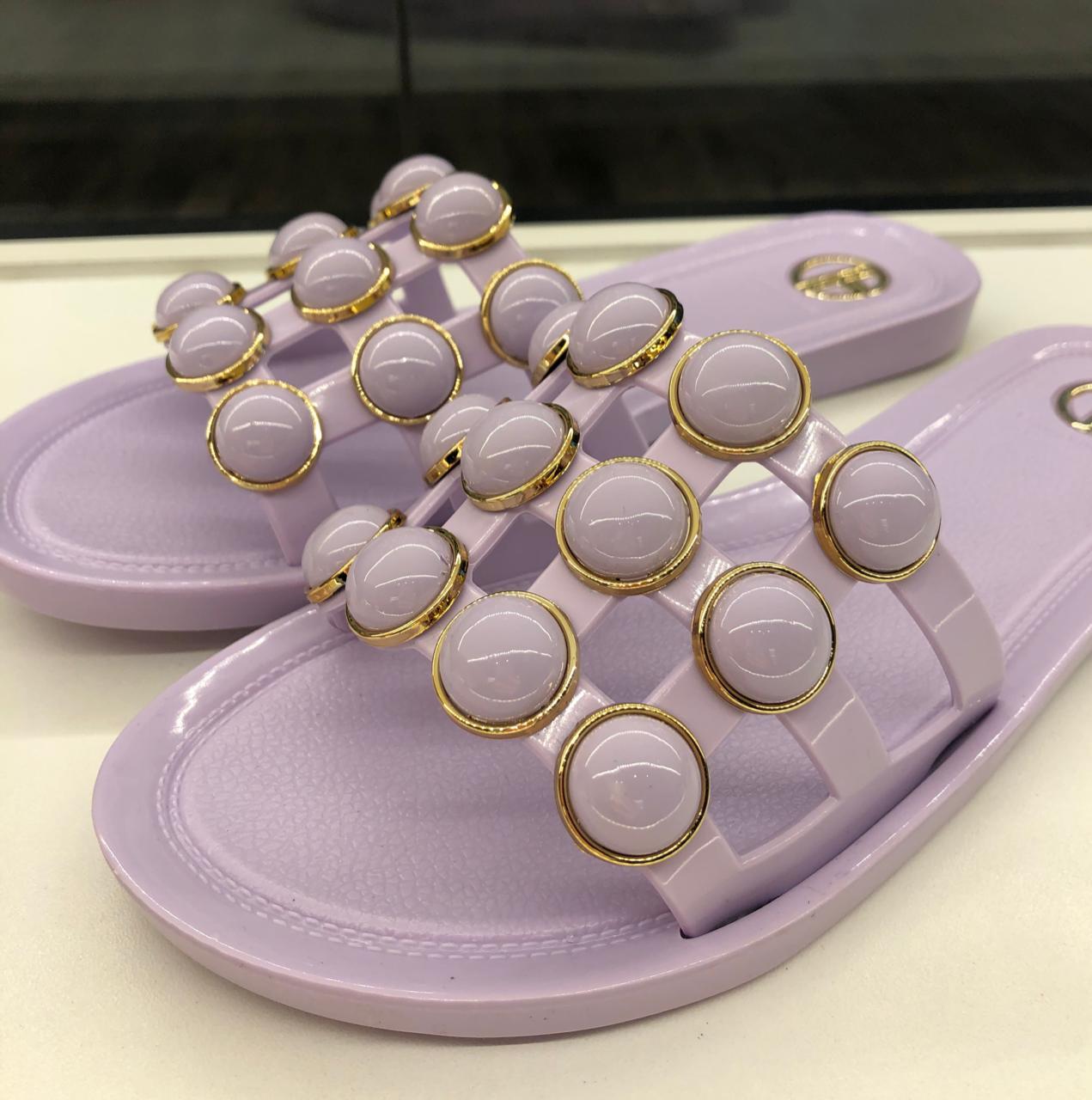 Rasteira violet Julia bardô