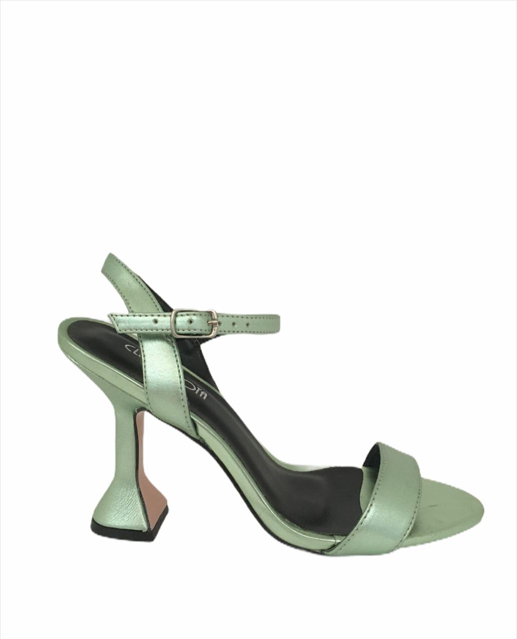 Salto taça verde metalizado