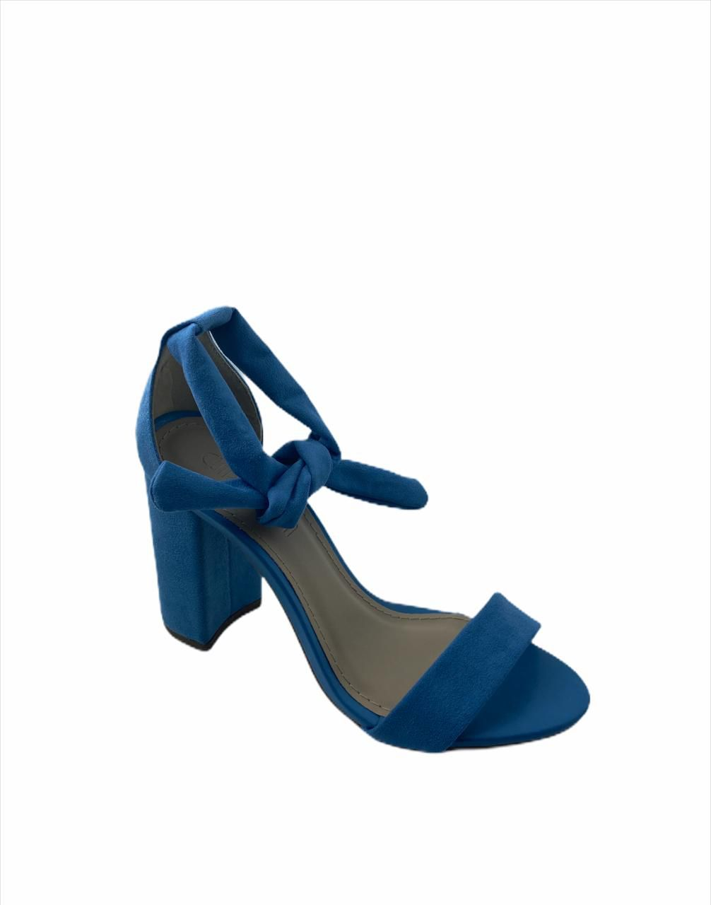 Sandália blocada azul