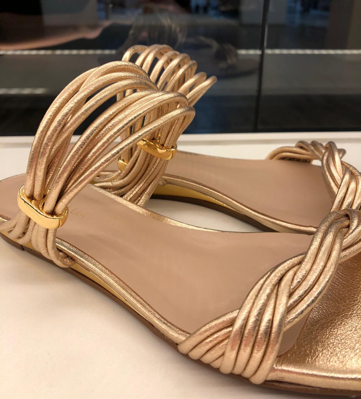Sandalia Pluma Ouro/Ambar