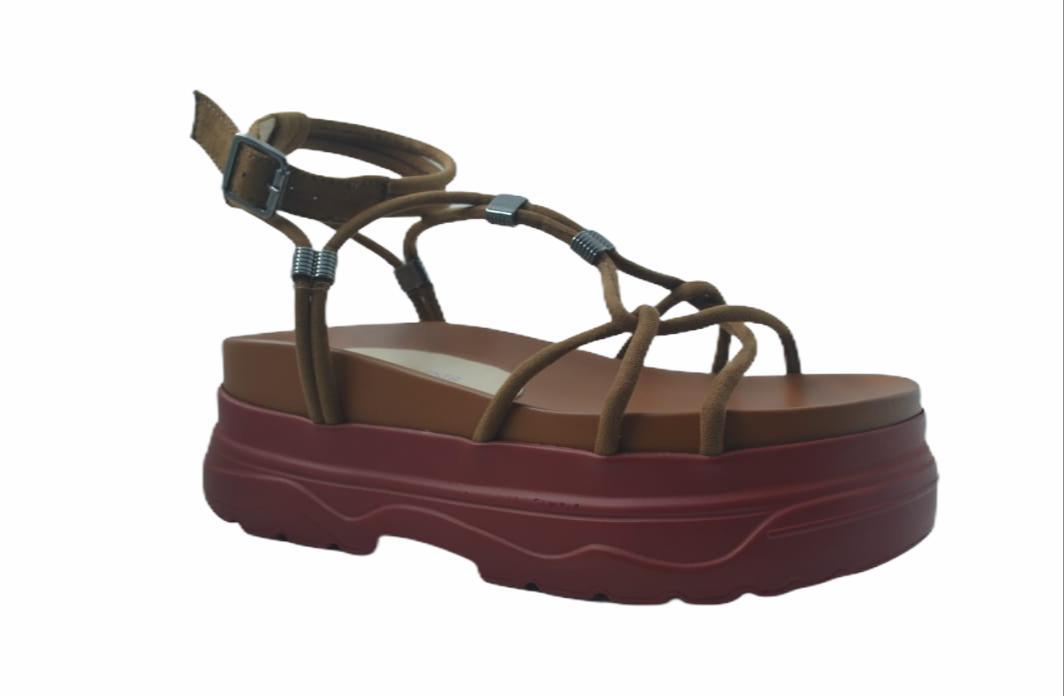 Sandália salto reto