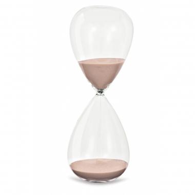 Ampulheta de Vidro Rosa 15 minutos