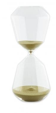 Ampulheta de Vidro Verde 30 minutos