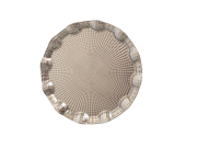 Bandeja Prata Redonda de Metal 25cm