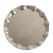 Bandeja Prata Redonda de Metal 35cm