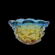 Cachepo de Murano Azul com Ambar