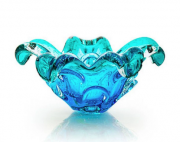 Centro de Mesa de Murano Azul com Esmeralda 12cm