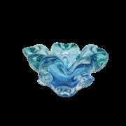 Centro De Murano Azul com Esmeralda P