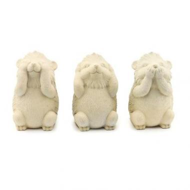 Escultura Trio Porco Espinho