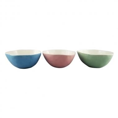 Jg 03 Bowls Colorido de Ceramica Sortido