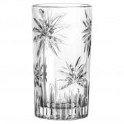 Jg 06 Copos de Cristal Transparente Coqueiros 330ml