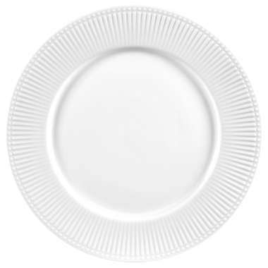 Jg 06 Pratos Sobremesa Minks Branco de Porcelana LHermitage