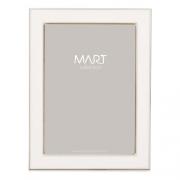 Porta Retrato Branco em Metal 10x15