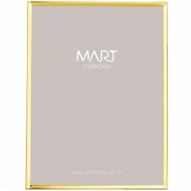 Porta Retrato Dourado de Metal Liso 20x25