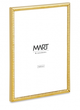 Porta Retrato Dourado de Metal Ondulado 10x15