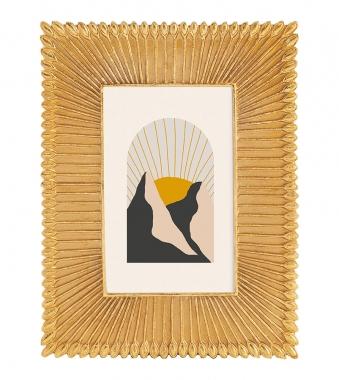 Porta Retrato Dourado de Resina 10x15