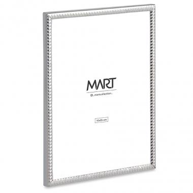 Porta Retrato Prata de Metal Ondulado 10x15