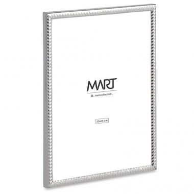 Porta Retrato Prata de Metal Ondulado 20x25