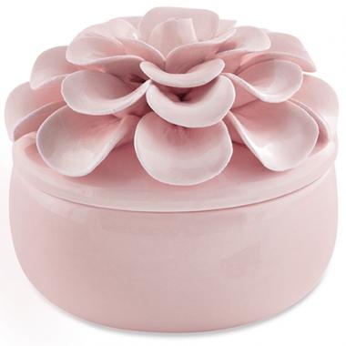 Pote Flor Rosa em Ceramica 10cm