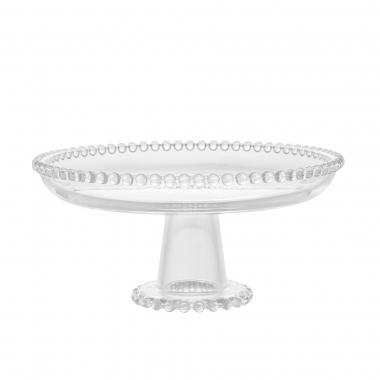 Prato de Cristal com Pé Pearl 20cm