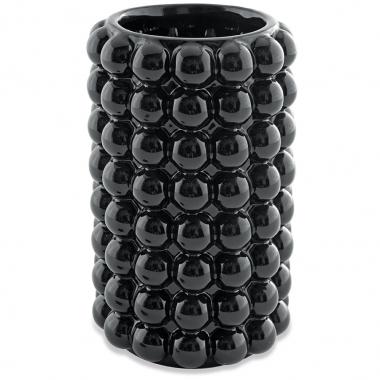 Vaso Preto Bolas de Ceramica 21cm