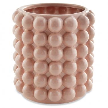 Vaso Rose Bolas de Ceramica 16cm