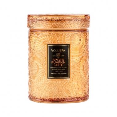 Vela Voluspa Vidro Relevo Spiced Pumpkin Latte 50 Horas