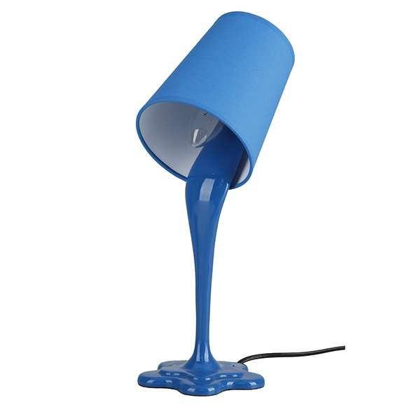 Abajur Lata de Tinta Azul