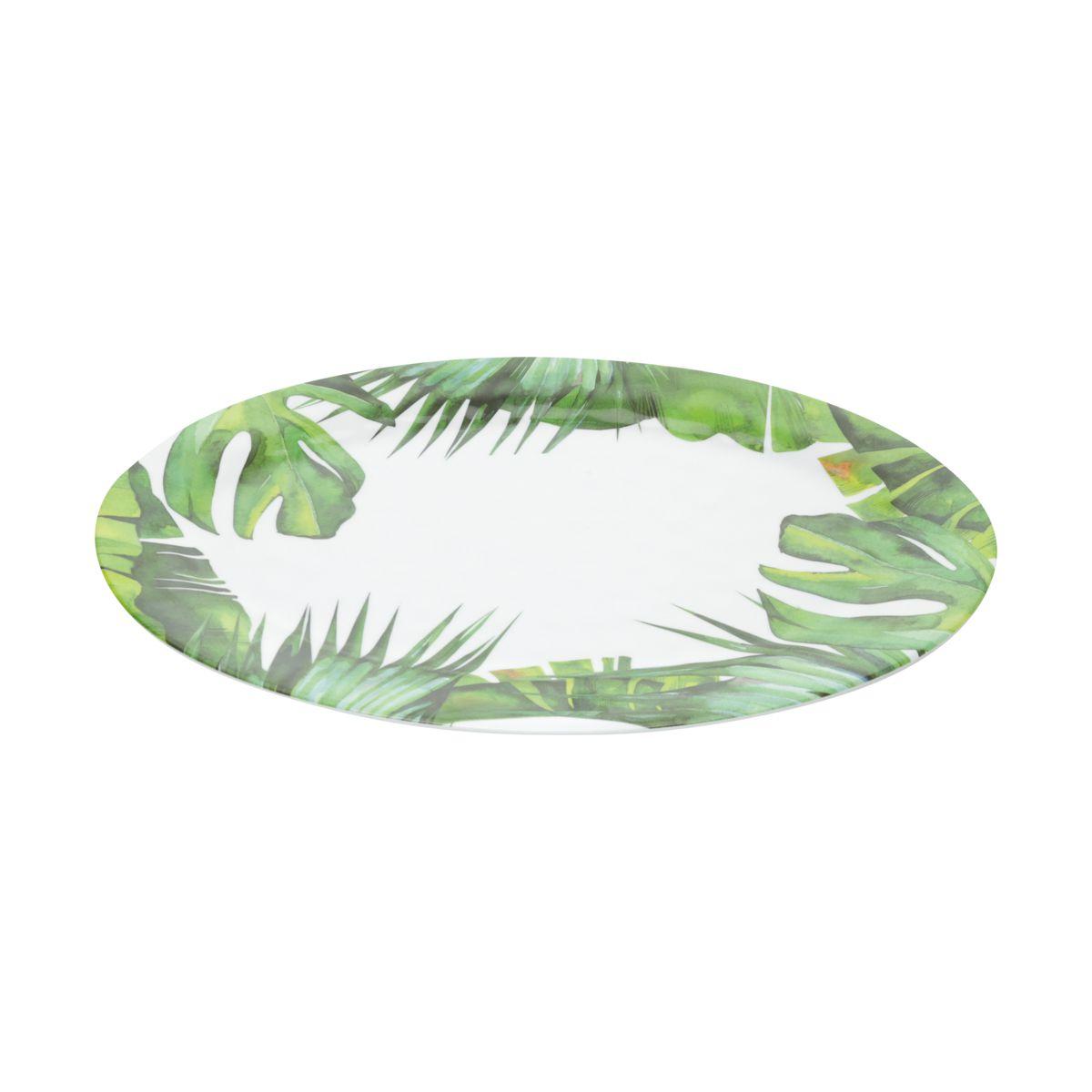 Bandeja Oval Folhas de Melamina 51cm