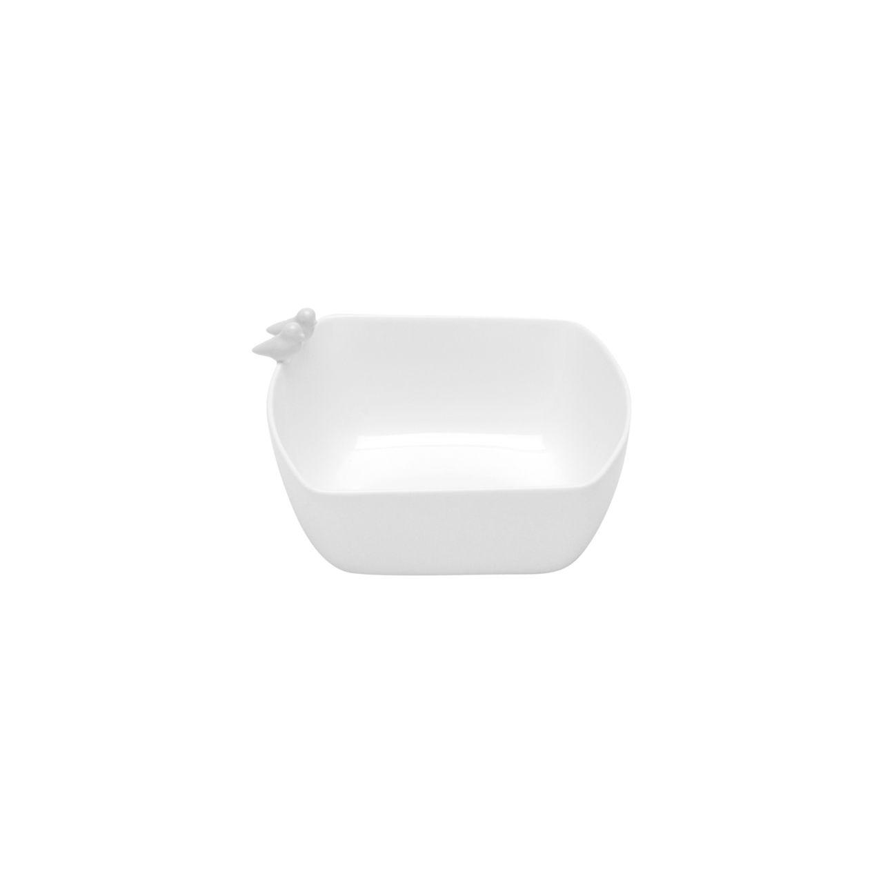 Bowl Bird Branco de Porcelana Wolff 16cm