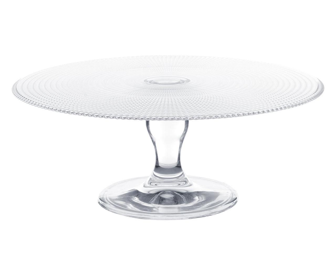 Prato Para Bolo Patisserie  em vidro - 28cm